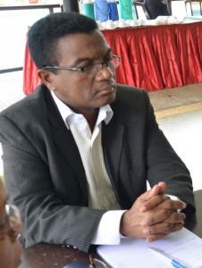 Adolphe Pilaza, directeur de la protection de la famille et de l'enfant au ministère de la Population.