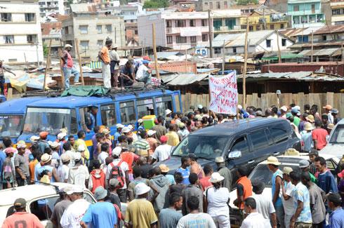 Litige foncier Ambodivona : Révolte des squatteurs hier