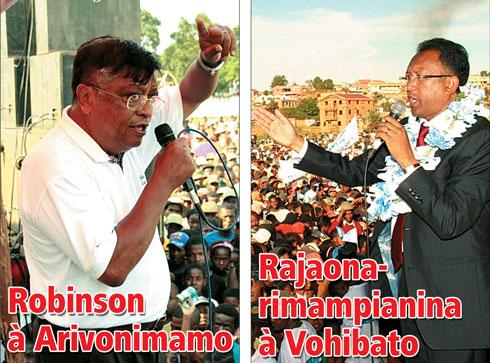 Ouverture de campagne demain : Robinson à Arivonimamo, Rajaonarimampianina à Vohibato