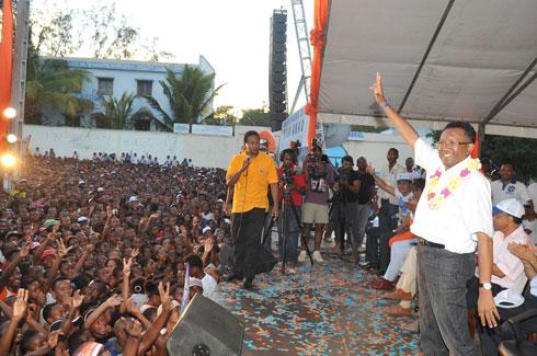 "Hery Rajaonarimampianina : ""Tambabe"" à Mahajanga pour le candidat n°3"