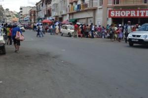 Les routes ont été presque désertes hier, même du coté d'Analakely.