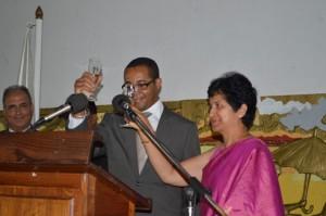 Lors de la célébration du 64e anniversaire de la République de l'Inde. (Photo : Nary Ravonjy)