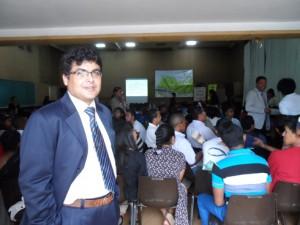Lors de la rencontre entre l'équipe de MEX et les étudiants de l'INSCAE.