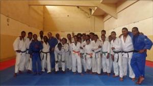 Les judokas ayant participé au premier entraînement de l'année.