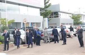 Des membres de la communauté internationale présents hier au siège de la SADC à Ankorondrano.