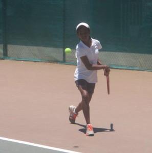 Sariaka Radilofe s'est inclinée en demi-finale.