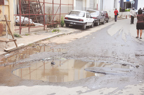 Retour de la pluie : Les routes fortement détériorées