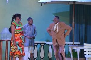 photo-légende : Mbato Ravaloson, très convaincant dans son rôle de Rasebijaona. (Photo : Nary Ravonjy)