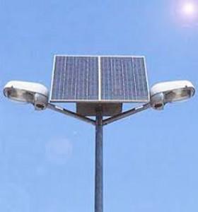 Le solaire est une solution d'éclairage public efficace.
