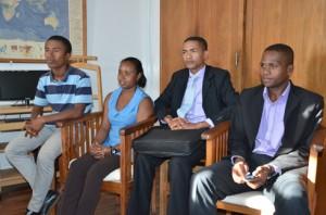 Les représentants de la solidarité des jeunes étudiants originaires de la province d'Antsiranana résidant à Antananarivo.