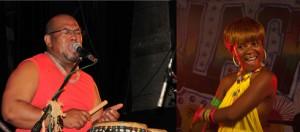 Olombelo Ricky et Black Nadia, deux monstres sacrés du showbiz malgache pour ce week-end pascal dans la ville d'Eaux (photos d'archives)