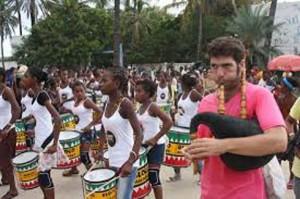 La parade festive qui a lancé le festival.
