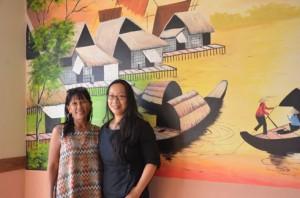 La formatrice vietnamienne, Trän Thi Minh Tâm et le promoteur du projet, Minosoa Rajaonary. (Photo : Yvon Ram)
