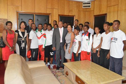 Jeux de la CJSOI : Les athlètes boostés par leurs ministres coachs