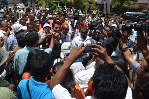 Rajoelina, Robinson, Saraha, Hajo, Vital : Un front contre le régime Rajaonarimampianina