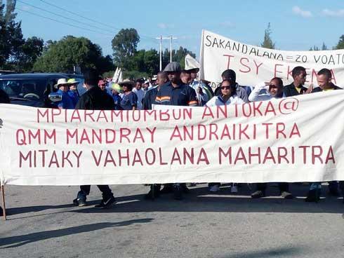 QMM : Manifestation anticrise, hier à Fort Dauphin