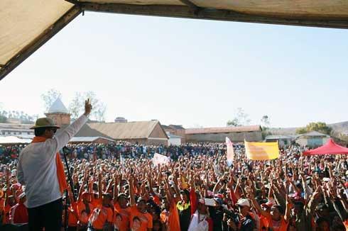 Andry Rajoelina : Le TGV entre avec succès dans l'Imamo