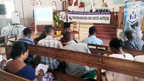 Ecclésia épiscopale de Majunga : Formation en protection sociale avec la CNaPS