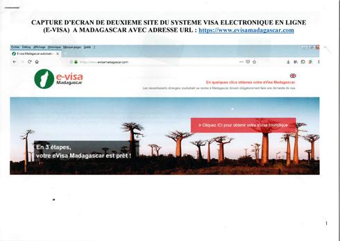 Tourisme : evisamadagascar.com, un faux site de paiement des e-visa