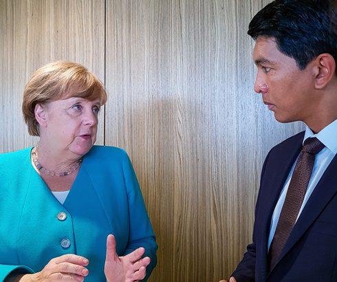 Genève : Face-à-face Rajoelina – Merkel