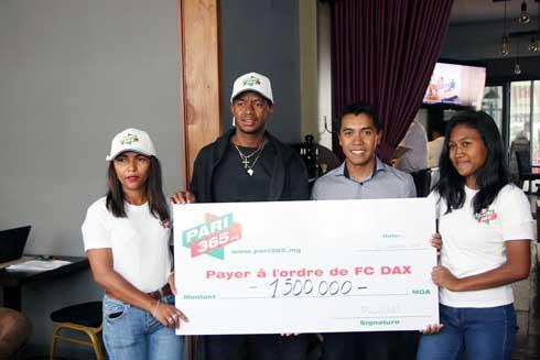 Football : 1 500 000 ariary de pari365.mg à FC Dax