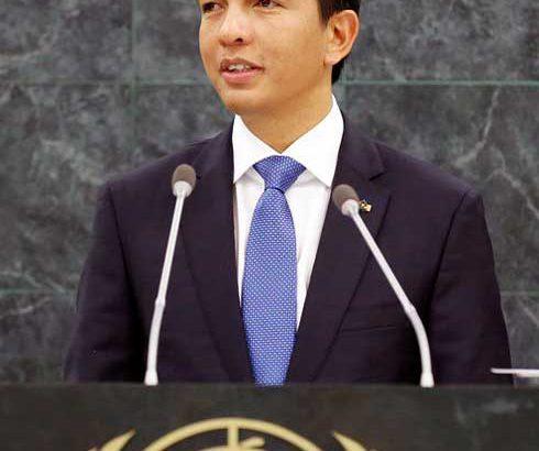 Andry Rajoelina : Discours à la tribune de l'ONU demain